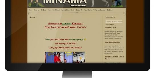 Website for Minama Weimaraners