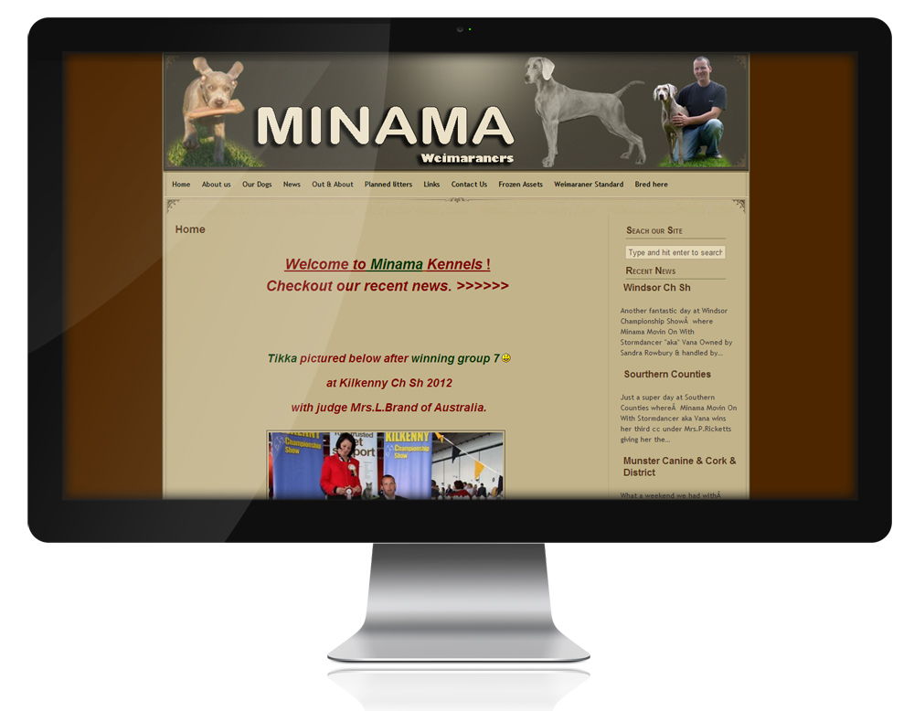 Website for Minama Weimaraners