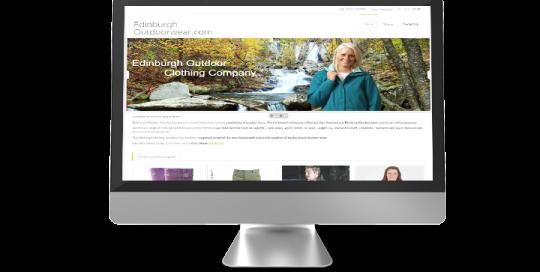 eCommerce website of Edinburgh Outdoorwear